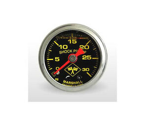Marshall Gauge 0 30 Psi Fuel Oil Pressure Midnight Chrome 1 5 Liquid Filled