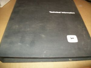 Original john Deere Walk Behind Tiller 5b Spayer technical Manual dealer Binder