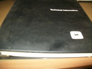 John Deere 1800 2300 3200 Portable Generator Technical Manual dealer Binder