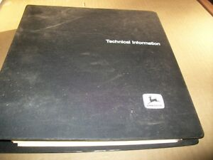 Original john Deere Plow Planter Service technical Manual dealer Binder
