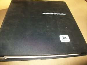 Original john Deere 21 walk Behind Rotary Mower technical Manual dealer Binder