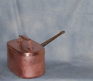 French Antique Daubi Re Braisi Re Copper Pan Chef Cuivre With Lid