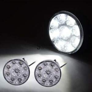Us 2x 2 75 27w Flood Round Led Work Light Offroad Fog Driving Drl Suv Atv Truck