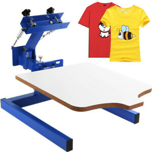 1 Color Screen Printing Press Machine 1 Station Silk Screening Pressing Set Diy