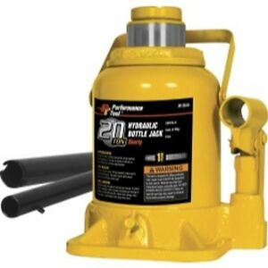 Performance Tool W1644 20 Ton Shorty Hydraulic Bottle Jack
