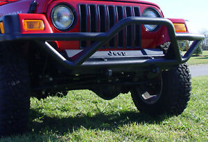 Rrc Front Bumper W grille Guard Black For Jeep Wrangler 87 06 391150211 Outland