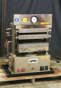 40k Lb Press Heated cooled Platens Multilayer Manual Compression Phi Tested