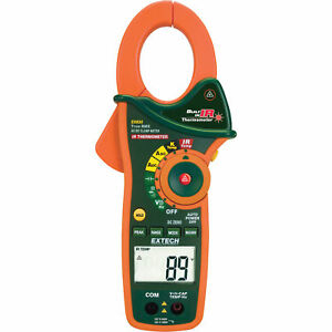 Extech Instruments 1000 Amp Clamp Meter W ir Thermometer true Rms ex830
