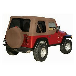 Rampage 99536 Set Of Khaki Diamond Replacement Soft Top For 97 06 Wrangler Tj