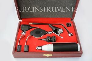 Otoscope Ophthalmoscope Complete 10 Piece Ent Medical Diagnostic Set