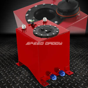 2 5 Gallon Red Coated Aluminum Racing drifting Fuel Cell Gas Tank level Sender