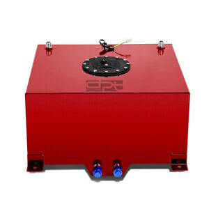 10 Gallon Lightweight Red Coat Aluminum Race Drift Fuel Cell Tank level Sender