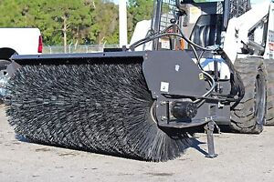 Skid Steer 7 Ft Sweeper By Sweepster all Poly 12 25 Gpm Fits Bobcat Case Cat