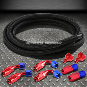 Fuel Gas Tank Cell An10 An6 10 An Fittings Black Braid Feed Return Line Hose Kit