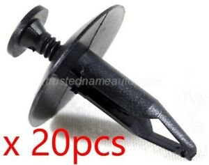 20pcs Sight Shield Retainer Rivet Fastener Clips For Ford Lincoln
