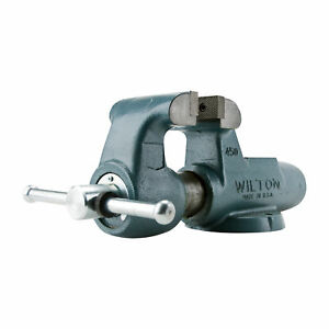 Wilton Serrated Machinist Bench Vise 4in Jaw Width Stationary Base 400n