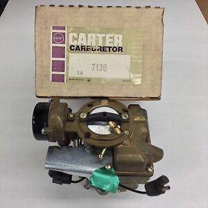Nos Carter Yf Carburetor 7136s 1970 1974 Ford Truck 240 Engine