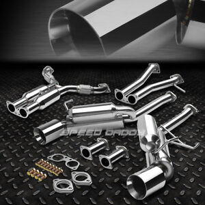 For 350z Z33 G35 V35 Dual 4 5 Rolled Tip Hi Power Racing Catback Exhaust System