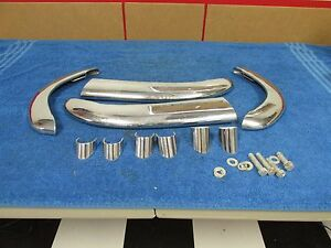 1951 52 Buick Series 40 Front And Rear Accessory Fender Bumper Guards Nos 815