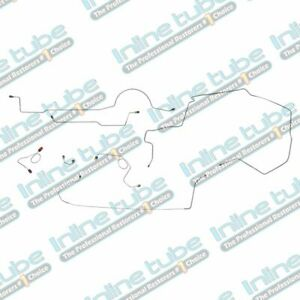 1971 Dodge Challenger Complete Power Disc Brake Line Kit 1pc F To R Stainless