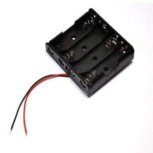 2pcs Plastic Battery Storage Case Box Holder For 4 X Aa 4xaa 2a 6 0v Wire Leads