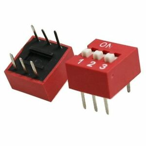 2 Pcs 3p 3 Position Dip Switch Side Style 2 54mm Pitch Through Hole Diy Good New