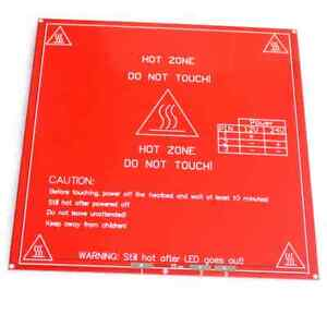 2pcs Reprap 3d Printer Pcb Heatbed Mk2b Heat Bed Hot Plate Prusa Mendel 12v 24v