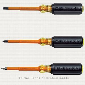 Klein Tools 602 4 ins 603 4 ins 662 4 ins Insulated Screwdriver 3pc Kit
