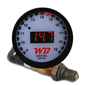 Apsx V2 Anti Glare D2 Digital Wideband O2 Afr Gauge Sensor Kit White Red Led