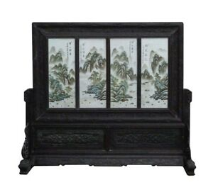 China Multi Color Porcelain Picture Scenery Display Panel Frame Mh304