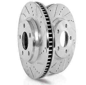 Power Stop Ebr1042xpr Drilled Slotted Rear Rotor Set For Jaguar Xj xj8 xjr