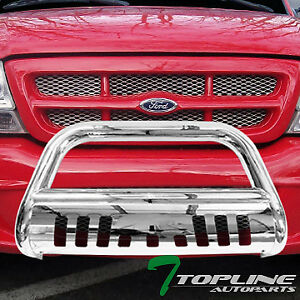 Topline For 1998 2011 Ford Ranger Classic Bull Bar Bumper Grill Guard stainless
