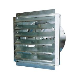 Maxxair Ventamatic Exhaust Fan W integrated Shutters 4100 Cfm 24in Dia if24