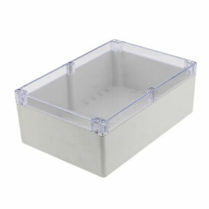 Outdoor Dustproof Ip65 Sealed Clear Cover 264x183x96mm Power Junction Box
