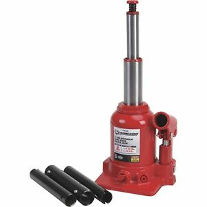 Strongway Hydraulic High Lift Double Ram Bottle Jack Ntf0202