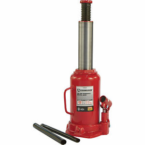 Strongway Hydraulic Bottle Jack 20 Ton Capacity 9 1 2in 17 3 4in Lift Range