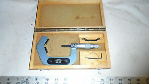 Machinist Mill Lathe Machinist Test Swiss Carbide Tipped Anvil Micrometer Gage