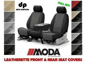 Coverking Leatherette Custom Fit Seat Covers Full Set For Mazda 3