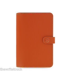 Filofax Original Leather Organizer Personal Burnt Orange 022390 2018 Diary