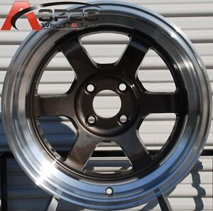 Rota Grid V 15x8 0 Gun Metal 4x100 Fit Jdm Civic Miata Integra Wild Body Wheel