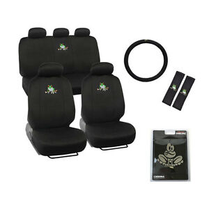 New Set Green Tree Frog Front Rear Back Car Full Seat Covers Emblem More