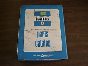 Oem 1968 Dodge Chrysler Plymouth Dart Master Parts Book Imperial Coronet Valiant