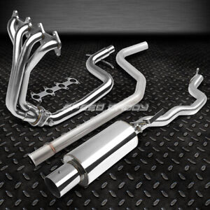 4 Tip Racing Catback 4 1 Header Manifold Exhaust For 95 02 Cavalier Sunfire 2 2
