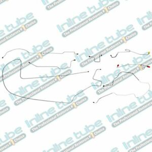 1968 69 Plymouth Gtx Complete Brake Line Set Kit Power Drum 8 3 4 Axle Oe Steel