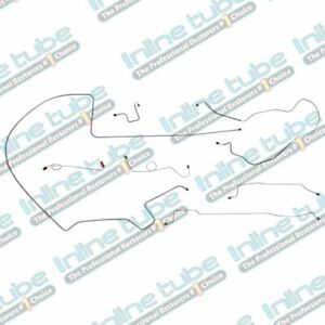 1968 69 Plymouth Gtx Complete Manual Drum Brake Line Kit Set 8 3 4 Axle Oe Steel