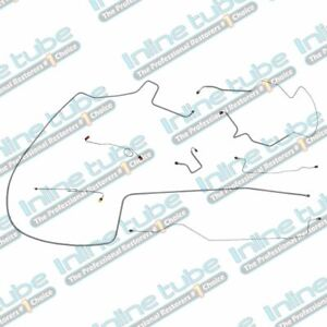 1968 69 Plymouth Gtx Complete Manual Drum Brake Line Kit Set Dana Axle Stainless