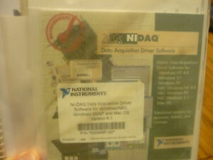 New Ni National Instruments Ni daq 500445f 0 Software Bundle