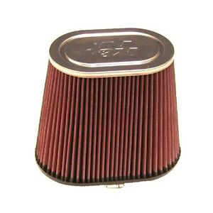 K n Rf 1040 Universal Reusable Oval Tapered Red Cotton Gauze Clamp on Air Filter