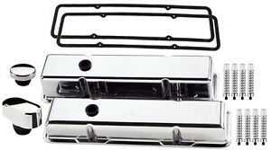 Billet Specialties Polished Tall Valve Covers oval Breather oil Cap rb sbc chevy