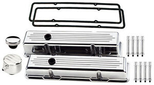 Billet Specialties Polished Tall Valve Covers milled pcv Breather oil Cap hx sbc